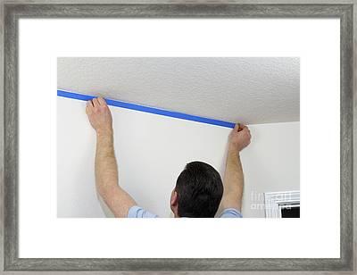 Applying Painter's Tape Framed Print