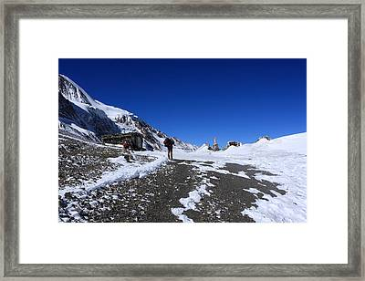 Approach To The Pass Framed Print