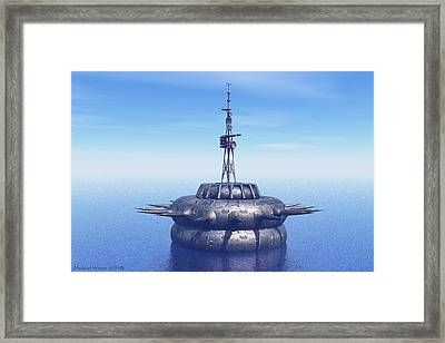 Approach With Extreme Caution Framed Print by Michael Wimer