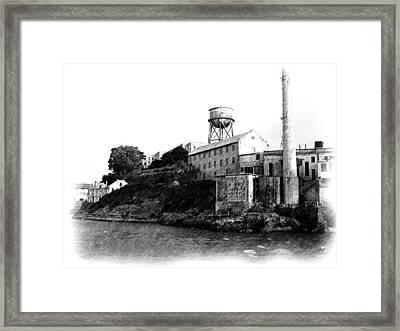 Approaching Alcatraz - Pencil Framed Print by Jenny Hudson