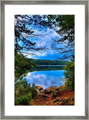 Approaching Bubb Lake Framed Print by David Patterson