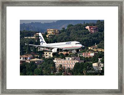 Approaching Corfu Airport Framed Print