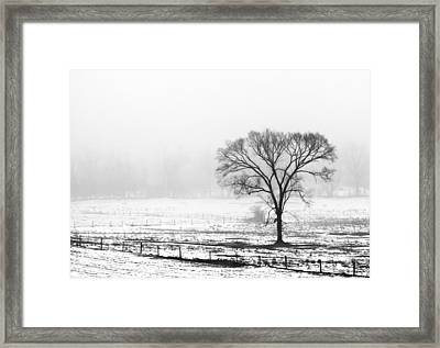 Approaching Fog Framed Print