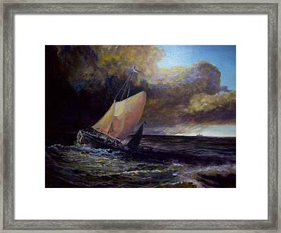 Approaching Gale  After Turner Framed Print