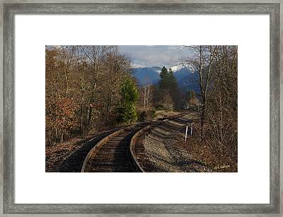 Approaching Grants Pass 1 Framed Print by Mick Anderson