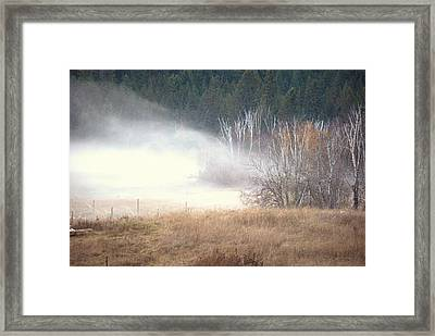 Framed Print featuring the photograph Approaching Mist by Michael Dohnalek
