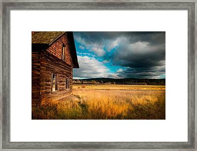 Approaching Storm At Douglas Lake Framed Print by Kasandra Sproson