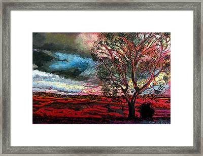 Approaching Storm Framed Print by Callan Percy