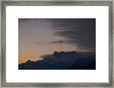 Framed Print featuring the photograph Approaching Storm by Colleen Williams