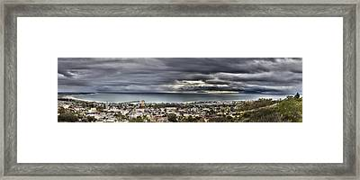 Approaching Storm Hdr Panorama  Framed Print by Joe  Palermo