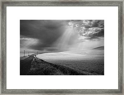 Approaching Storm Framed Print by Latah Trail Foundation