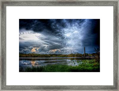 Approaching Storm Framed Print by Mark Andrew Thomas
