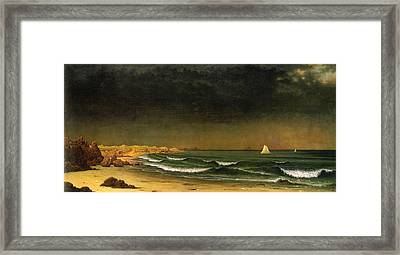 Approaching Storm Near Newport Beach Framed Print by Martin Heade