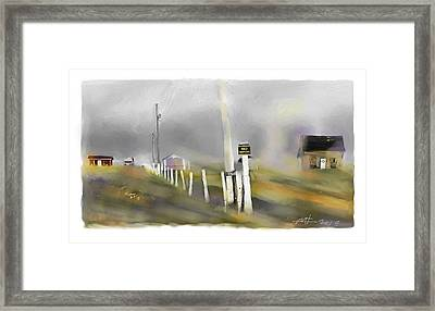 Approaching Storm Northwest Cape P.e.i Framed Print by Bob Salo