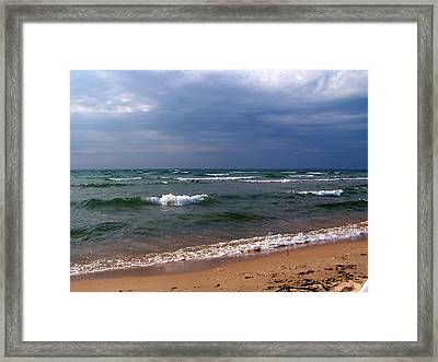 Approaching Storm Over Lake Michigan Framed Print