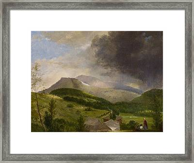 Approaching Storm  White Mountains Framed Print