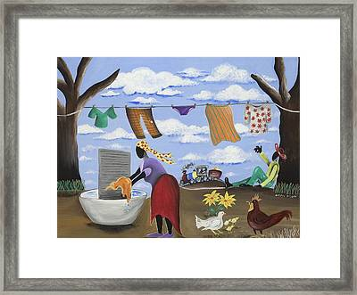 Approaching The Finish Line Framed Print by Patricia Sabree