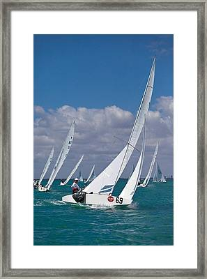 Approaching The Mark Framed Print