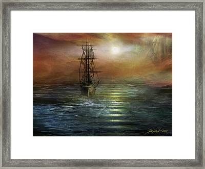 Approaching The New World Framed Print