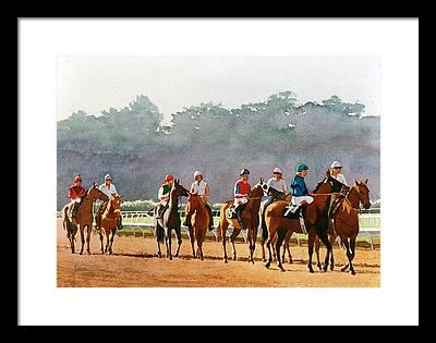 Jockeys Framed Prints