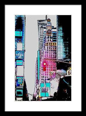 Crossroads Of The World Digital Art Framed Prints