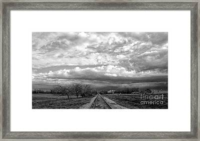 Approaching Troubled Time  Framed Print