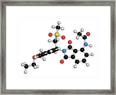 Apremilast Psoriasis Drug Molecule Framed Print