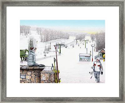 Apres-ski At Hidden Valley Framed Print by Albert Puskaric