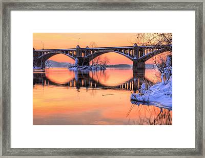 Apricot Susquehanna  Framed Print by JC Findley