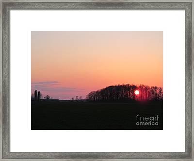 April 24 2013 Sunset Framed Print