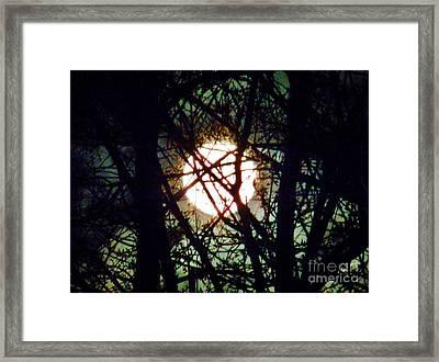 April 3 Am Moon Framed Print by Judy Via-Wolff