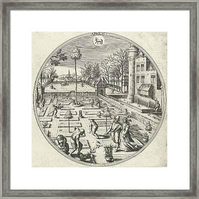 April, Adriaen Collaert, Hans Bol, Hans Van Luyck Framed Print by Adriaen Collaert And Hans Bol And Hans Van Luyck