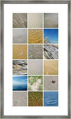 April Beach Framed Print by Michelle Calkins