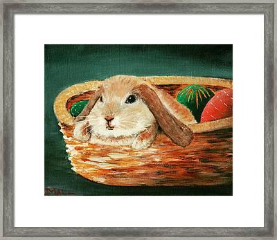 April Bunny Framed Print