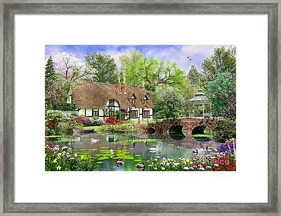 April Cottage Framed Print by Dominic Davison