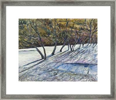 April Coulee Framed Print by Helen Campbell