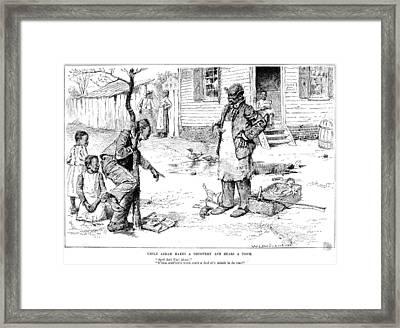 April Fool's Day, 1884 Framed Print