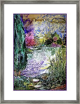 April In England Framed Print
