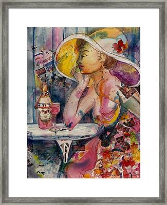 Framed Print featuring the painting April In Paris by Elaine Elliott