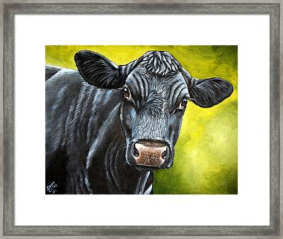 April Framed Print by Laura Carey