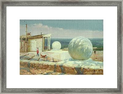 April On The Langeron Beach Framed Print by Andrii Gerasymiuk