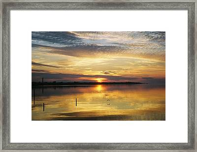 April Reflections Framed Print