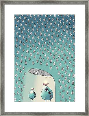 April Shower Framed Print by Yoyo Zhao