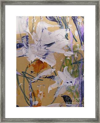 April Showers 1 Framed Print by Nancy Kane Chapman