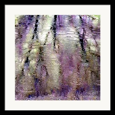 Trees Reflecting In Water Framed Prints