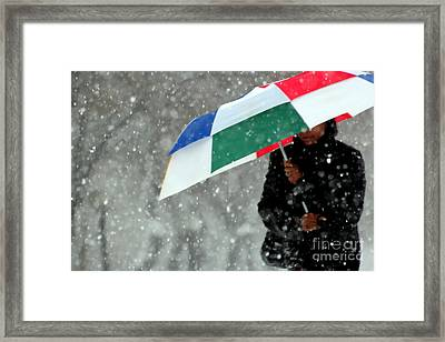 April Showers Minneapolis Framed Print