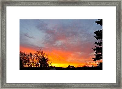 April Sunrise Framed Print