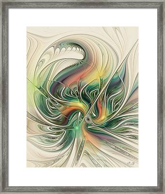 April's Temper Framed Print