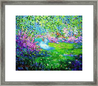April's Wedding Song Framed Print by Glenna McRae