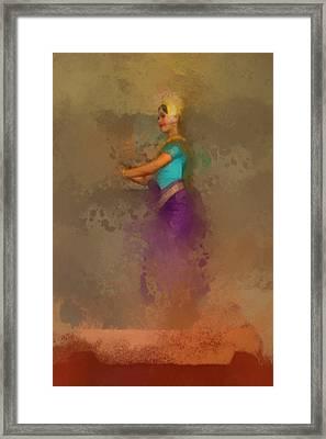 Apsara Dancing Cambodia Lovely Lady Framed Print by Teara Na